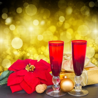 Kerst champagne