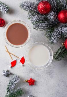 Kerst chocolade sneeuwvlok martini cocktail