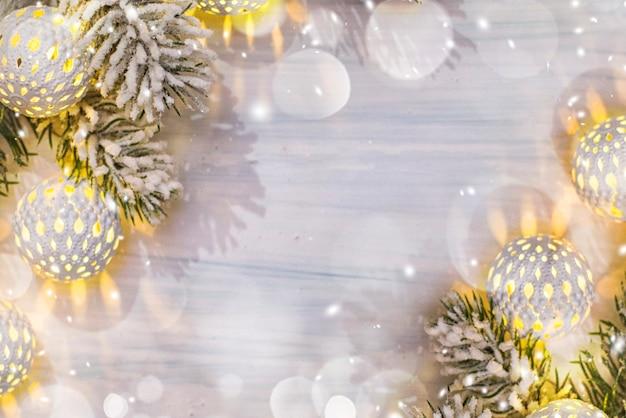Kerst compositie. bovenaanzicht, plat lag, kopieer ruimte.