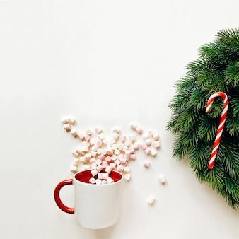 Kerst compositie met krans