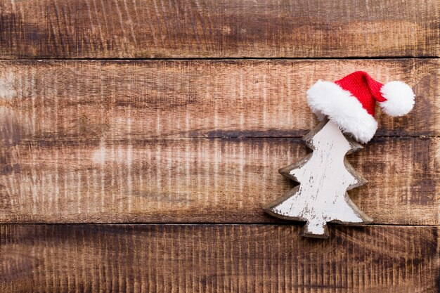 Kerst decor op de oude vintage houten achtergrond.