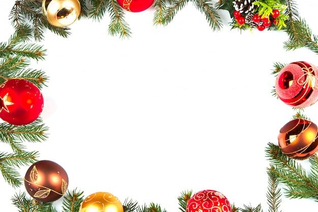 Kerst decoratie frame achtergrond