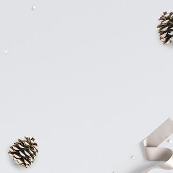 Kerst dennenappel social media post achtergrond met ontwerpruimte