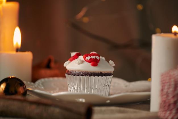 Kerst dessert sneeuwpop cupcakes