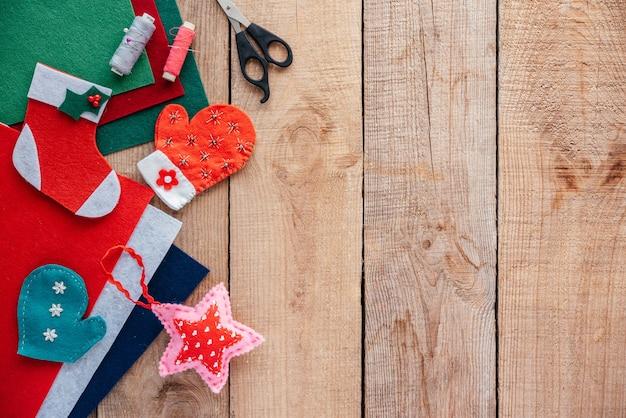 Kerst diy vilten ornamenten kerst en nieuwjaar knutselideeën