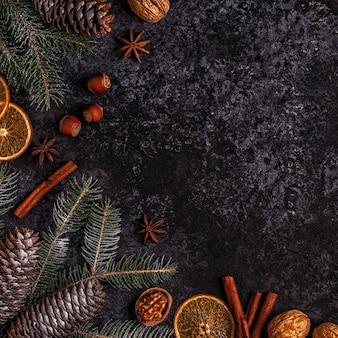Kerst donkere stenen achtergrond