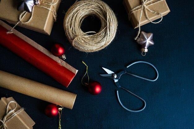 Kerst elementen concept