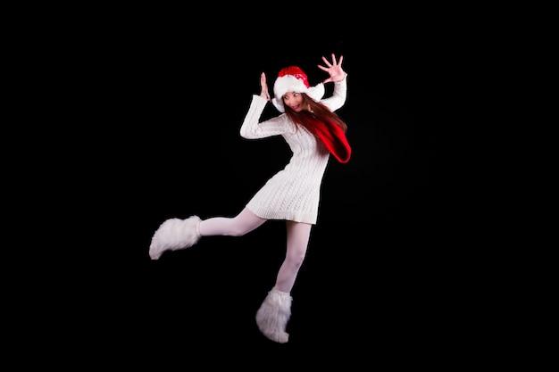 Kerst elf acrobat