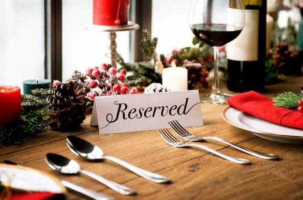Kerst familie diner tafel concept