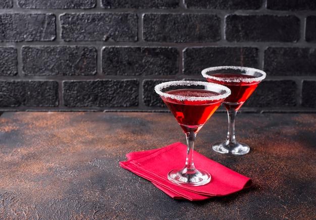 Kerst feestelijke cocktail rode martini