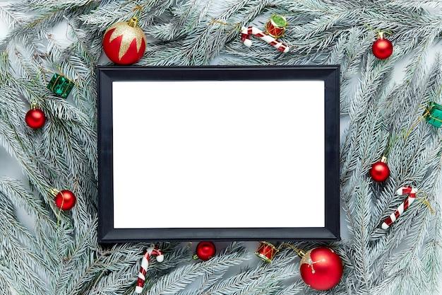 Kerst frame achtergrond met kerstboom.