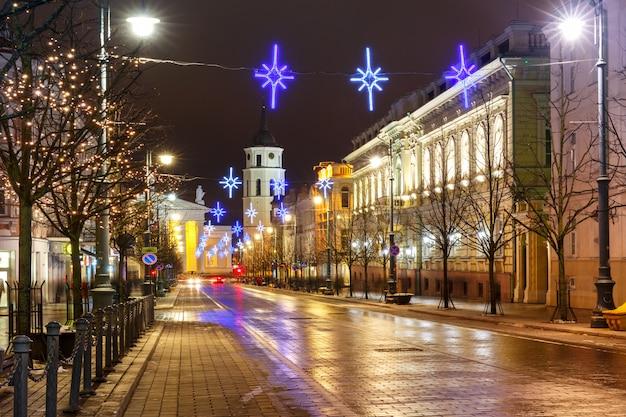 Kerst gediminas vooruitzicht, vilnius, litouwen