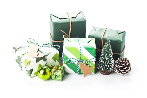Kerst geschenkdozen geïsoleerd