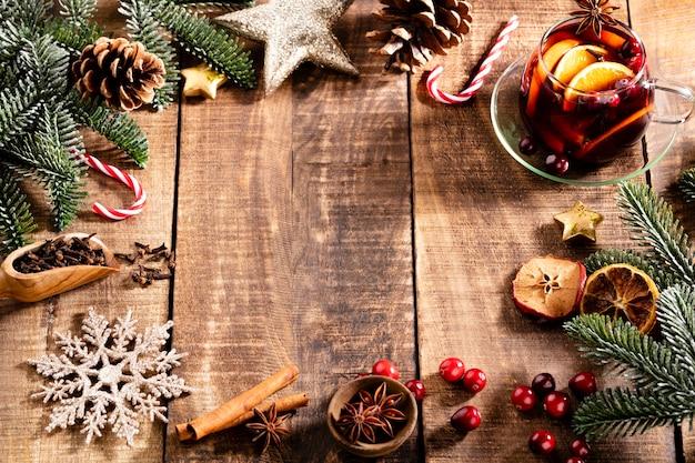 Kerst glühwein met kruiden