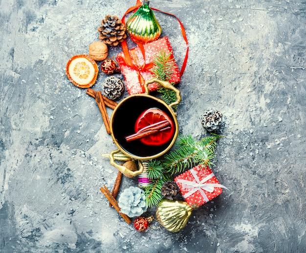 Kerst glühwein rode wijn