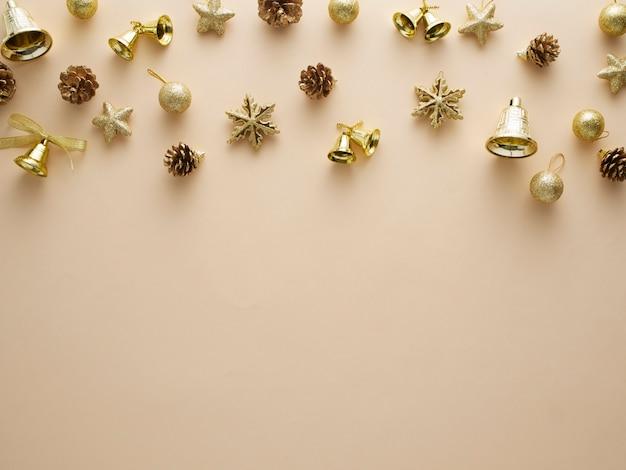 Kerst goud glitter elementen.