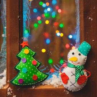 Kerst handgemaakte speelgoed van vilt