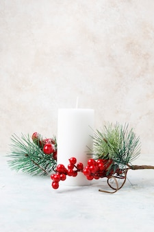 Kerst kaars voor decoratie