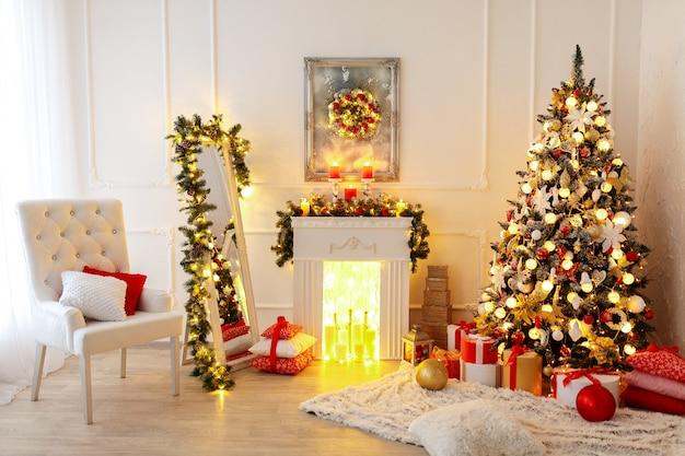 Kerst kamer interieur