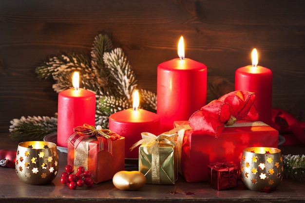 Kerst komst kaarsen lantaarn decoratie