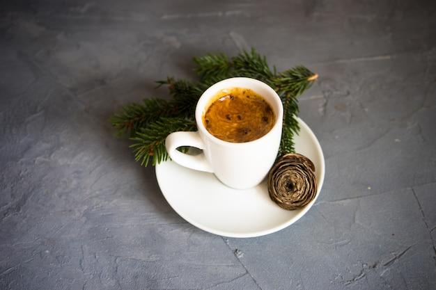 Kerst kopje koffie
