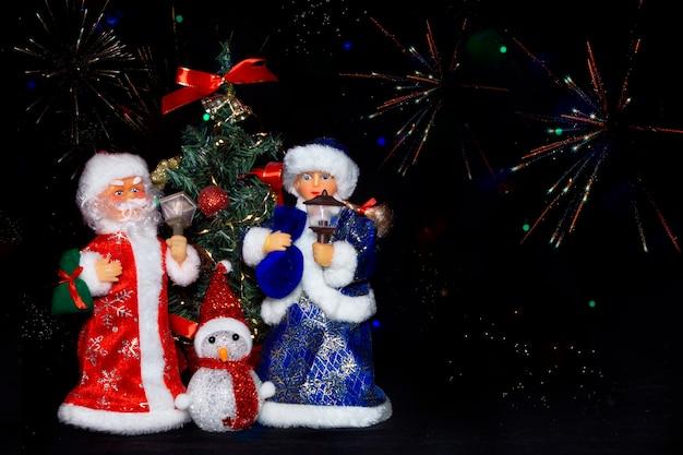 Kerst met de kerstman sneeuw maiden and snowman