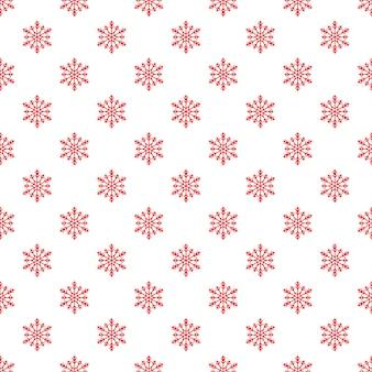 Kerst naadloze patroon met sneeuwvlokken op witte achtergrond. eindeloos kerstpatroon