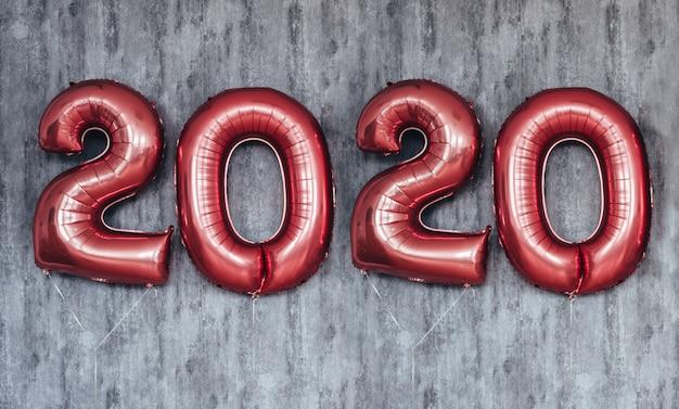 Kerst nieuwjaar 2020 nummers ballonnen. viering, vakantie.
