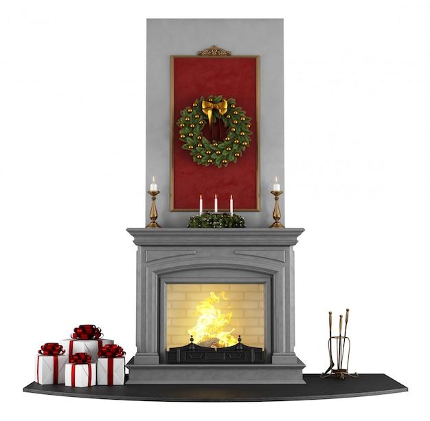 Kerst open haard