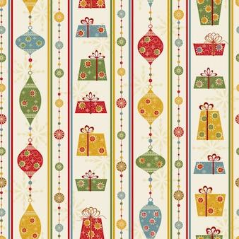 Kerst ornamenten patroon naadloze geschenkdozen