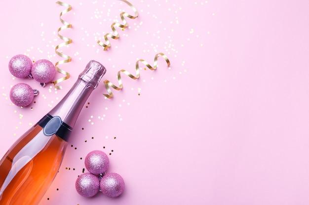 Kerst plat leggen met champagne