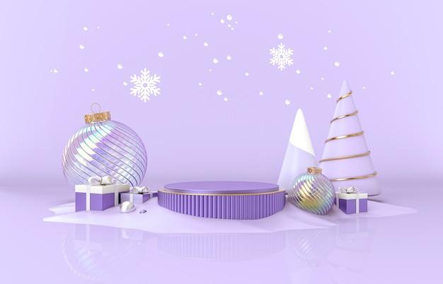 Kerst podium decor voor productvertoning