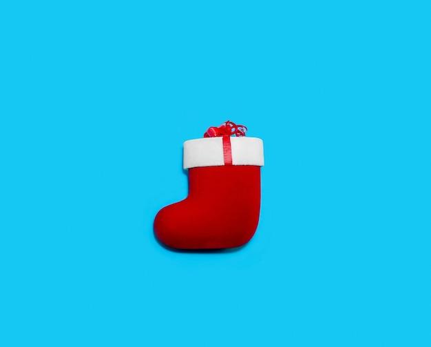 Kerst rode sok geïsoleerd in blauw