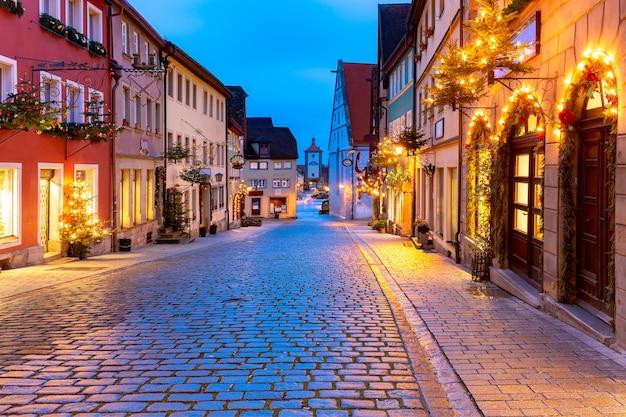 Kerst rothenburg ob der tauber, duitsland