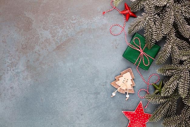 Kerst samenstelling fir tree takken