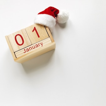 Kerst samenstelling van de kerstman en kalender