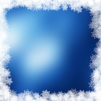 Kerst sneeuwvlok rand
