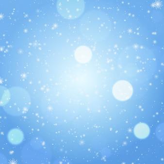Kerst sneeuwvlokken vakantie gradiënt achtergrond