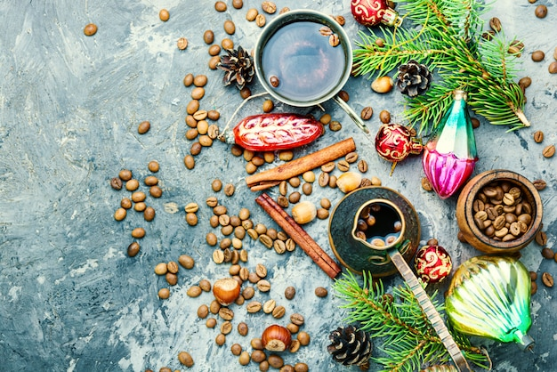 Kerst speelgoed en koffie