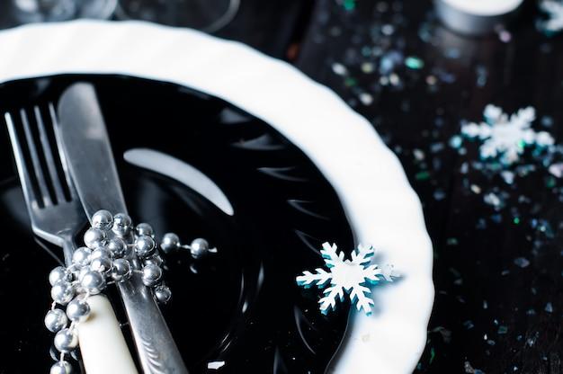 Kerst tabel instelling. feestdagen decoraties