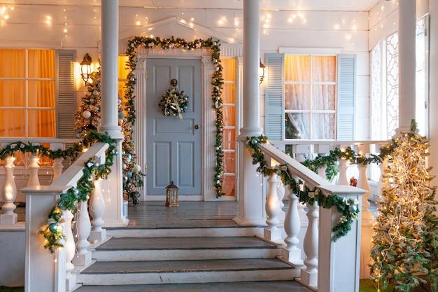 Kerst veranda decoratie idee
