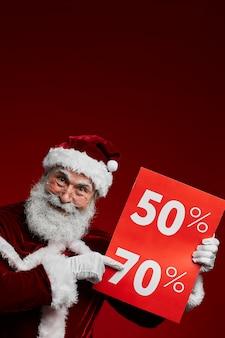 Kerst verkoop teken