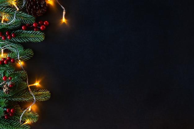 Kerst versierd huis thema.