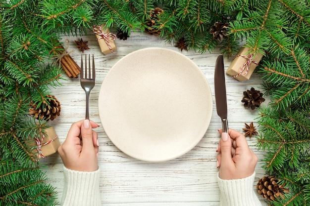 Kerst versiering. gelukkig nieuwjaar concept.