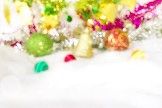 Kerst versiering wazig achtergrond. groet en gelukkig seizoen.