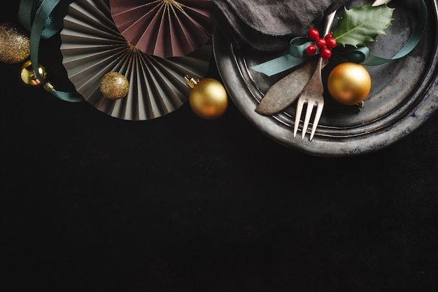 Kerst vintage rustiek bestek