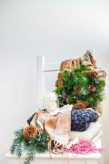Kerst voorbereidingen, nieuwjaar concept