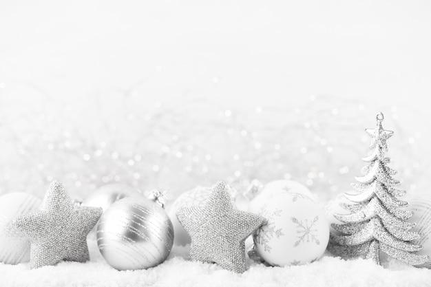 Kerst wenskaart. feestelijke decoratie. nieuwjaar concept. plat leggen. bovenaanzicht.
