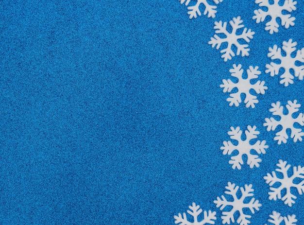 Kerst winter concept met witte sneeuwvlokken