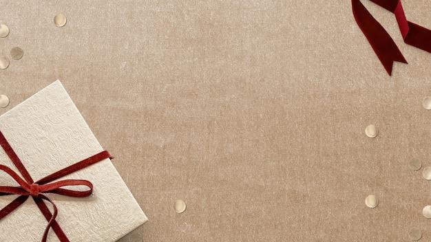 Kerstachtergrond met tekstruimte